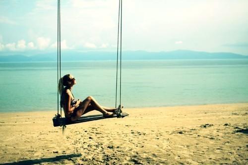 woman alone